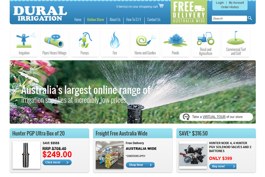 Dural Irrigation Home Page