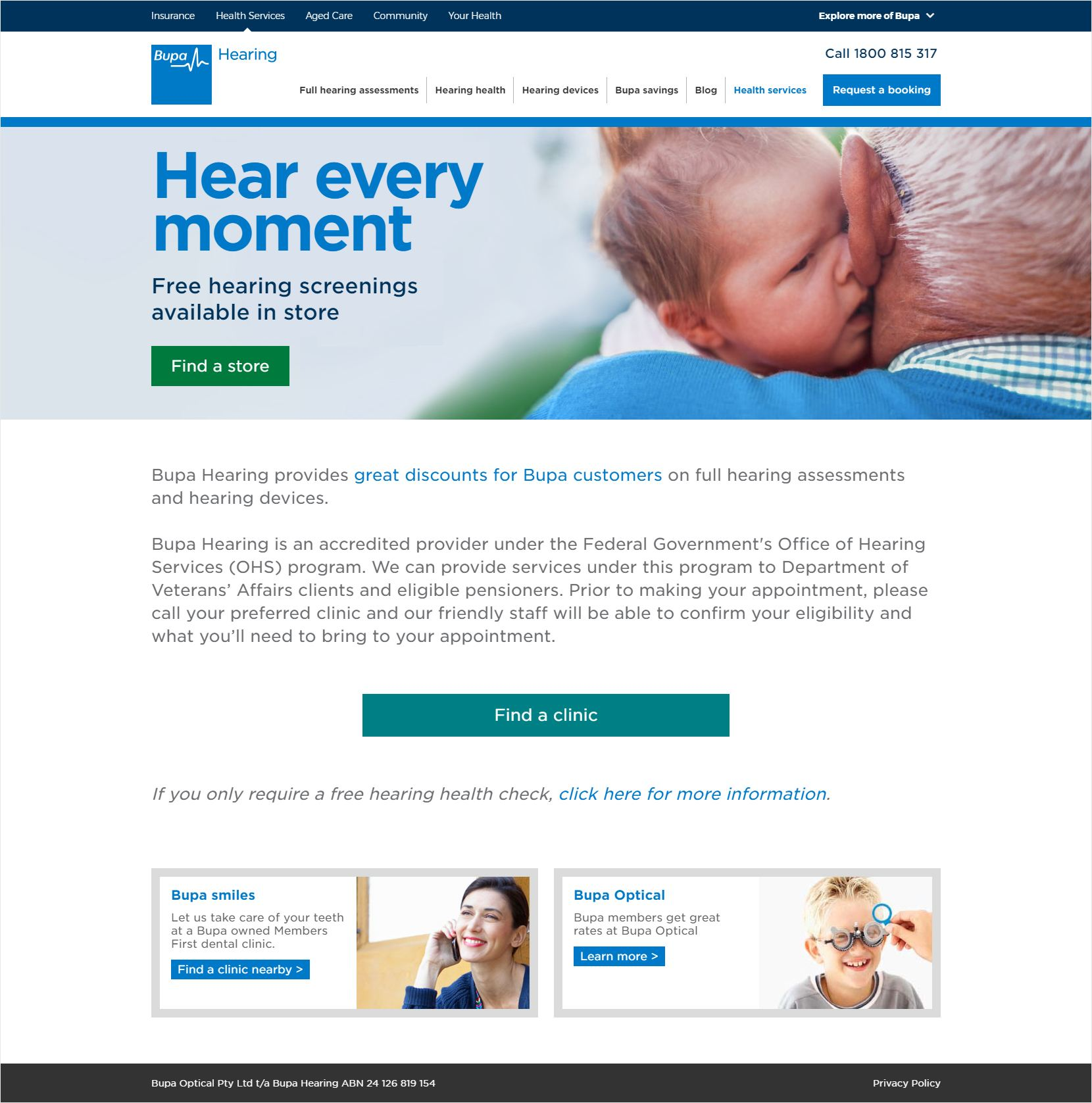 Bupa Hearing Home Page